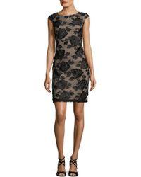 Donna Ricco - Floral Sheath Dress - Lyst