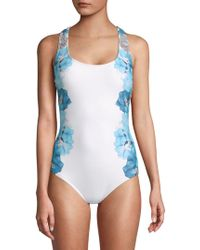 CALVIN KLEIN 205W39NYC - One-piece Floral Swimsuit - Lyst