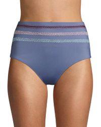 Dolce Vita - High-waist Textured Bikini Bottom - Lyst