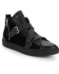Alessandro Dell'acqua - Leather High-top Sneakers - Lyst
