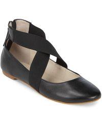 Saks Fifth Avenue - Criss Cross Python Ballet Flats - Lyst