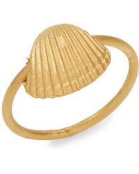 Valentino - Matte Finish Sea Shell Ring - Lyst