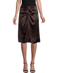 Isabel Marant - Geometric Print Ruched Silk Skirt - Lyst