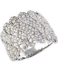 Effy   14kt. White Gold Diamond Ring   Lyst