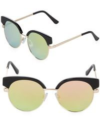 Fantaseyes - Mirrored 48mm Clubmaster Sunglasses - Lyst