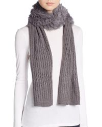 La Fiorentina - Dyed Rabbit Fur-accent Knit Scarf - Lyst