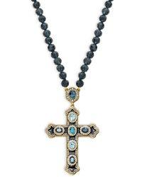 Heidi Daus - Crystal Long Cross Pendant Necklace - Lyst