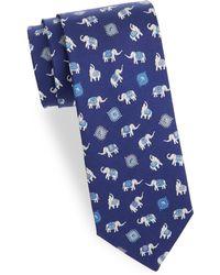 Ferragamo - Elephant Silk Tie - Lyst