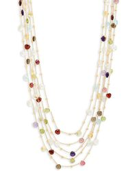 Saks Fifth Avenue - Gold-plated Multi-stone Five-strand Necklace - Lyst