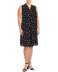 Vince Camuto - Plus Pattern Shift Dress - Lyst
