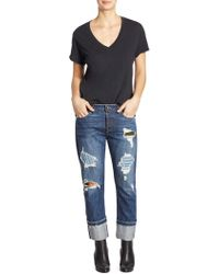 Tortoise - Herma Slim-fit Distressed Rolled Jeans - Lyst