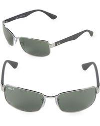 56676889f3 Ray-Ban - 60mm Polarized Rectangle Sunglasses - Lyst