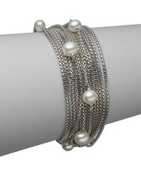 David Yurman - Sixteen-row Pearl And Chain Bracelet - Lyst