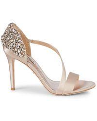 Badgley Mischka - Pauline Embellished D'orsay Stiletto Sandals - Lyst