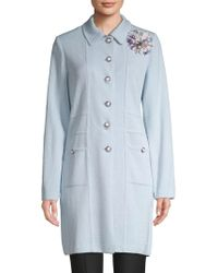 St. John - Floral Knitted Topper - Lyst