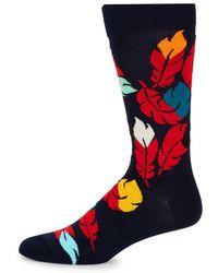 Happy Socks - Feathers Crew Socks - Lyst
