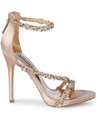 Badgley Mischka - Quest Crystal Embellished Sandals - Lyst