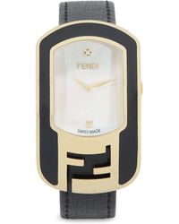 Fendi - Stainless Steel Leather-strap Watch - Lyst