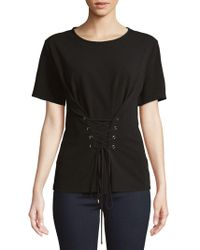 Ellen Tracy - Front Lace-up Top - Lyst