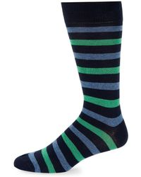 Saks Fifth Avenue - Striped Crew Socks - Lyst