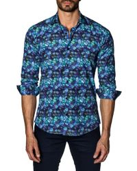Jared Lang - Geometric Cotton Button-down Shirt - Lyst