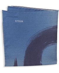 Eton of Sweden - Abstract Wool & Silk Pocket Square - Lyst