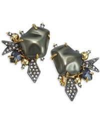 Alexis Bittar - 10k Gold-plated 20mm Baroque Pearl & Swarovski Crystal Clip-on Earrings - Lyst