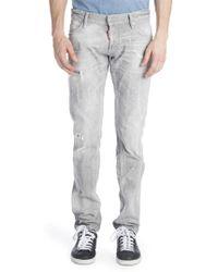 Viktor & Rolf - Slim Duck Wash Distressed Jeans - Lyst