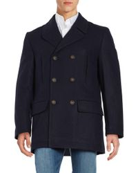 Ralph Lauren - Double-breasted Wool-blend Coat - Lyst