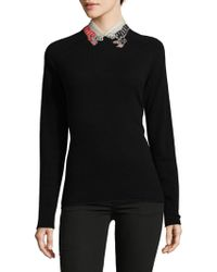 RED Valentino - Embroidered Silk Stole - Lyst