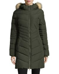 Pajar - Queens Fox Fur-trimmed Quilted Zip-front Coat - Lyst