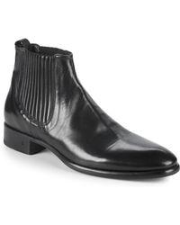John Varvatos - Eldridge Covered Leather Chelsea Boots - Lyst