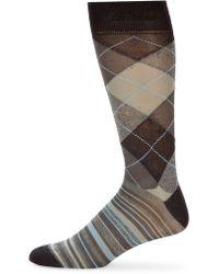 Saks Fifth Avenue - Argyle & Stripe Mid-calf Socks - Lyst