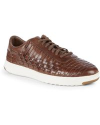 Cole Haan - Grandpro Tennis Huarache Leather Trainers - Lyst