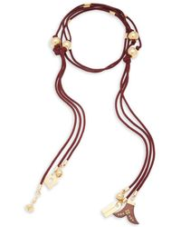 Chloé - Janis Beaded Tie Necklace - Lyst