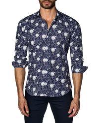 Jared Lang - Clock Cotton Button-down Shirt - Lyst