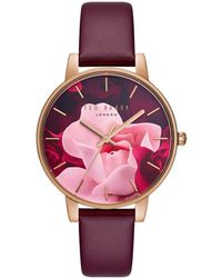 84e98ee36 Ted Baker - Kate Leather Watch - Lyst