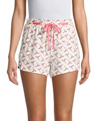 Jane And Bleecker - Bird-print Pajama Shorts - Lyst