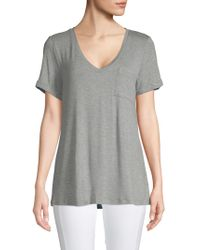 Jane And Bleecker V-neck Pyjama Top - Gray