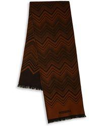 Missoni - Stripe Zigzag Wool Scarf - Lyst
