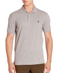 Ralph Lauren Blue Label - Heathered Polo Shirt - Lyst