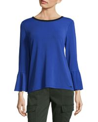 CALVIN KLEIN 205W39NYC - Bell Sleeves Thick Celestial Top - Lyst