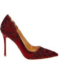 Badgley Mischka - Rouge Embellished Court Shoes - Lyst