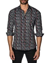 Jared Lang - Graphic Cotton Button-down Shirt - Lyst
