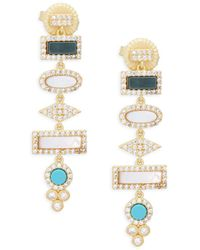 Freida Rothman - Crystal Love Knot Tear Drop Earrings - Lyst
