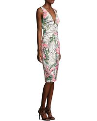 Kay Unger - Sleeveless Floral Cocktail Dress - Lyst