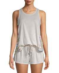 Jane And Bleecker - Two-piece Printed Sleeveless Pajama Set - Lyst