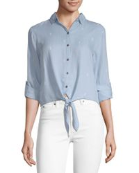 Beach Lunch Lounge - Printed Knotted Top - Lyst