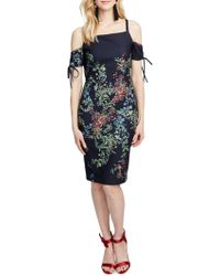 RACHEL Rachel Roy - Rosetta Floral Cold-shoulder Dress - Lyst