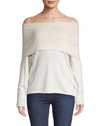 Joie - Off-the-shoulder Cotton & Cashmere Top - Lyst